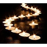 Pack of 50 - 10 Hour Long Last Burning Wax Tealight Candles