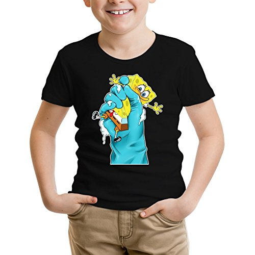 Jungen-Kinder-T-Shirt-Parodie-auf-SpongeBob-Schwammkopf-687