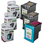 LD © Remanufactured Replacement Ink Cartridges for Hewlett Packard (HP) C8765WN (HP 94) Black and C8766WN (HP 95) Color (2 Black and 1 Color)