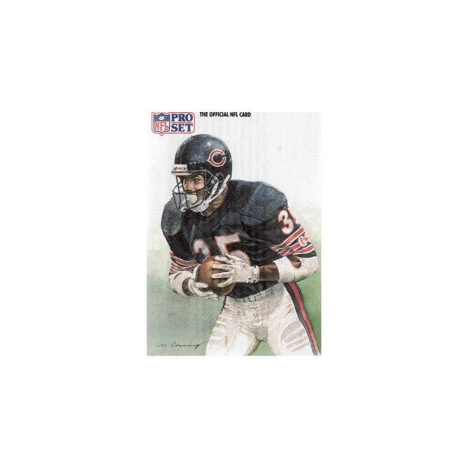 NEAL ANDERSON, RB BEARS, PORTRAIT BY MERV CORNING, Jersey #35, Card # 389, NFL Pro Set Card, The Official NFL Card, Official Photo and Stat Card of the NFL 1991