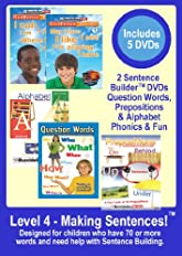 Level 4   -   Making Sentences! Set   -   Appropriate For Kids with 75+ Words Not Yet Speaking in Sentences. - 5 DVDs