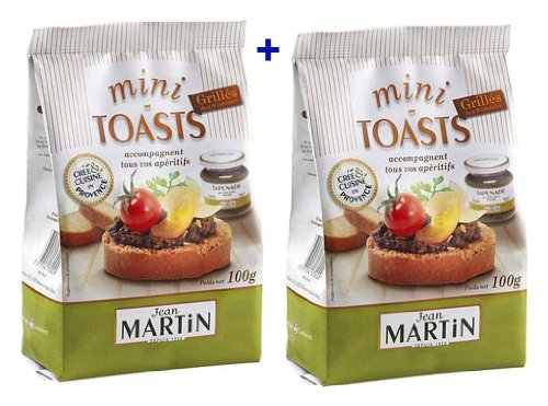 French Mini toast to 9 grains Jean Martin-Mini toasts grilles aux 9 cereales- 2 x 100 gr