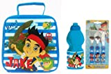 Jake and the Never Land Pirates Lunch Bag, Plastic Sports Bottle & Cutlery Set Disney