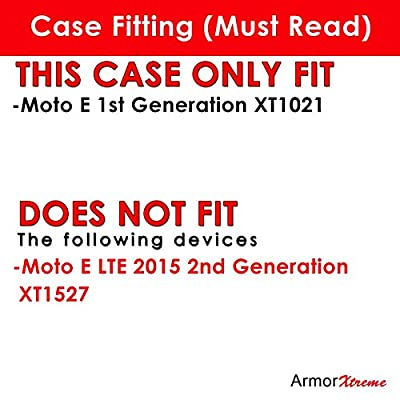 Motorola Moto E [1st Gen 2014] [XT1021 / 1022 / 1025] Case, [ArmorXtreme] Combat Armor Heavy Duty Case with Holster - J by ArmorXtreme