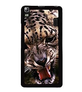 Fuson Premium 2D Back Case Cover Fierce leopard With Blue Background Degined For Lenovo K3 Note