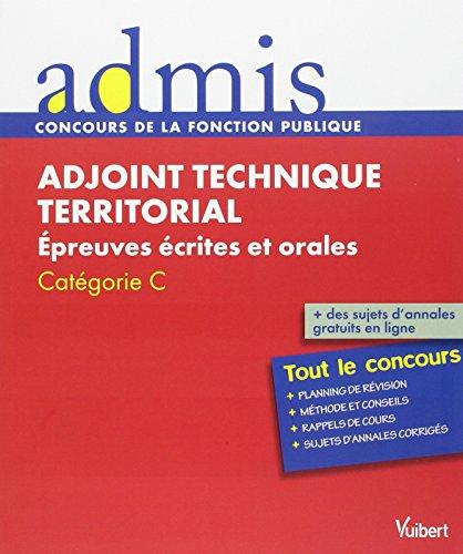 Concours Adjoint technique territorial