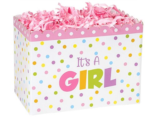 Large Baby Shower Its a Girl Gift BOX Decorative Base for Gift Baskets - 1