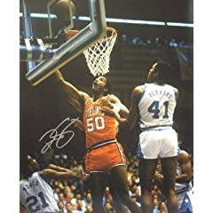 Ralph Sampson Autographed Hand Signed Virginia Cavaliers 16x20 Photo (Lay-up vs UNC)