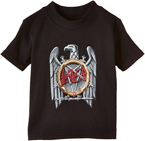 Slayer - Eagle, Short sleeve per bimbi, nero (black), Medium (Taglia produttore:6-12)
