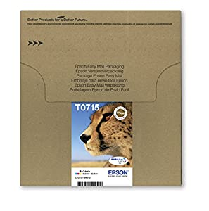 Epson T0715 Tintenpatronen, Multipack, 4-farbig (Frustfreie Verpackung)