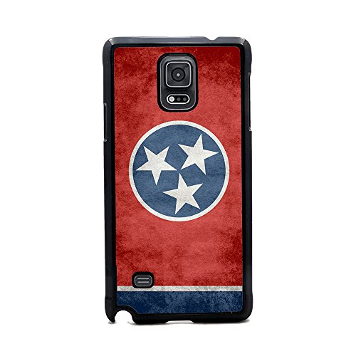 Insomniac Arts - State Flag of Tennessee, Tennessean - Case for Samsung Galaxy Note 4 - Black Plastic (The Tennessean compare prices)