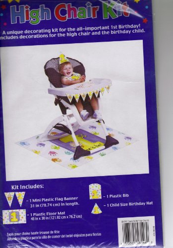 First Birthday Cakes on Me Highchair Kit - 1