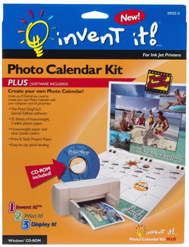 Invent It! Photo Calendar Kit Plus with Software (Personal Photo Calendar compare prices)