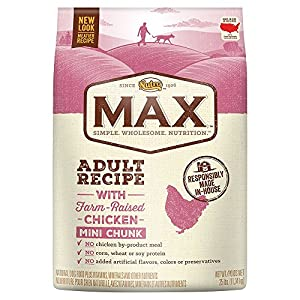 NUTRO MAX Adult Recipe With Farm Raised Chicken Mini Chunk Dry Dog Food 25 Pounds