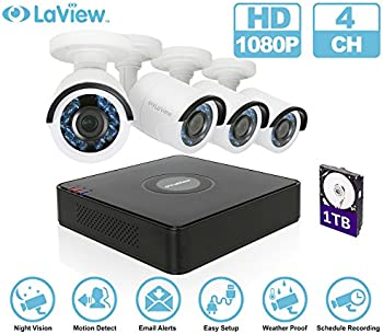 LaView 1080P HD 4CH Security System