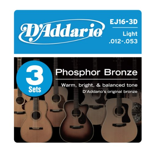 D'Addario EJ16-3D Phosphor Bronze Acoustic Guitar