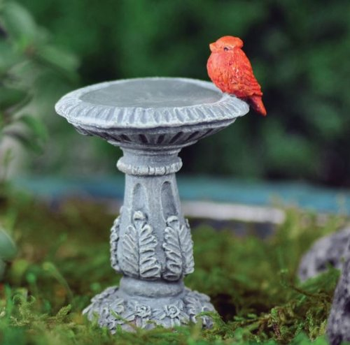 Georgetown Miniature Cardinal Bird Bath Fiddlehead