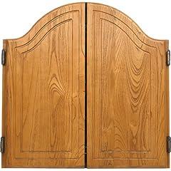Buy Arched Oak Dart Board Cabinet by CueStix International