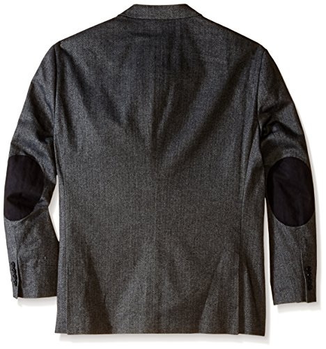 u s polo assn men 39 s big tall big and tall cotton herringbone sport coat black 50 regular. Black Bedroom Furniture Sets. Home Design Ideas