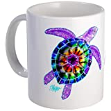 CafePress Purple Tie Dye Turtle Mug - S White