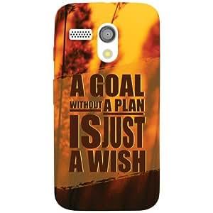 Motorola Moto G Back cover - A Goal Plan Designer cases