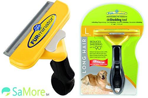 FURminator L pettine spazzola cani di 23-41 kg pelo lungo superiore ai 5 cm