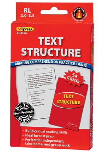 Text Structure Practice Cards Red Level