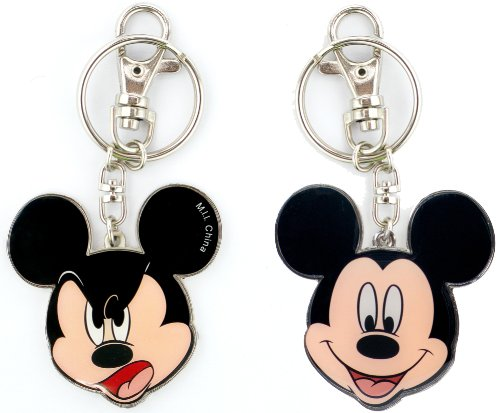 Disney Mickey Two Sided Colored Pewter Key Ring