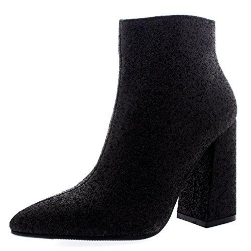 mujer-talon-de-bloque-chelsea-motorista-dedo-puntiagudo-moda-otono-botines-negro-resplandecer-uk3-eu