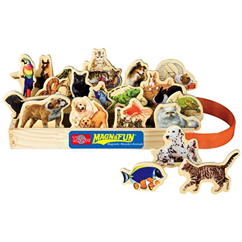 T.S. Shure Favorite Pets Wooden Magnets 20 Piece MagnaFun Set