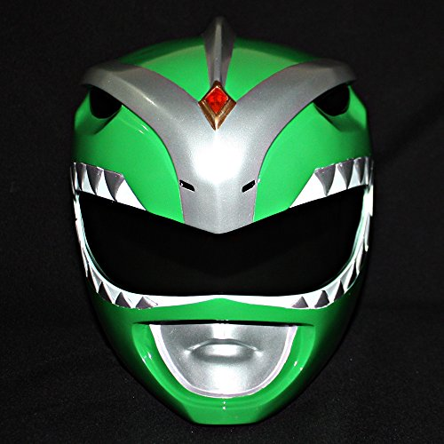 1:1 Halloween Costume Cosplay Mighty Morphin Power Ranger Helmet Mask Green PR08