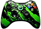 GREEN SPLATTER 5500 + Modded Xbox 360 Controller Hydro Dipped Mod with Rapid Fire / Jitter / Quick Scope / Sniper Breath / Drop Shot / Jump Shot / Auto Aim / Quick Aim / Burst / Akimbo / Mimic / Adjustable / Adjustable Burst / Auto Burst / Dual Trigger and more! For COD Ghosts / MW1 / MW2 / MW3 / Black Ops 1 / Black Ops 2 / WAW / Gears of War Series / Halo Series / GTA / BF and more! 5000