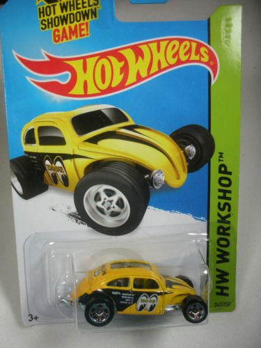 Hot Wheels HW Workshop Custom Volkswagen Beetle Yellow #247/250