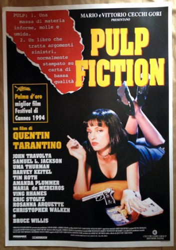 PULP FICTION - Poster Manifesto Originale Cinema