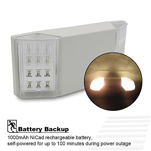 Torchstar UL Listed LED Emergency Light with Battery Backup White Available eBay