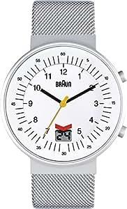 Braun Herren-Armbanduhr XL CLASSIC RC DFC/MSF Analog Quarz Edelstahl BN0087WHSLMHG