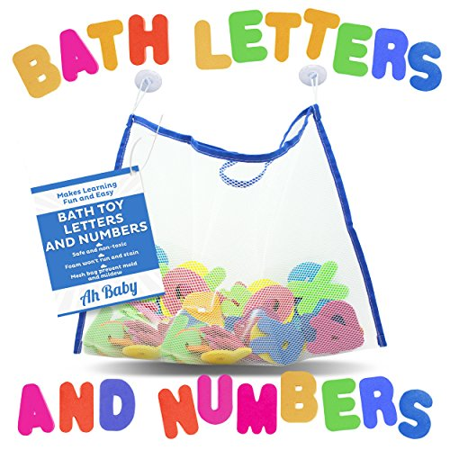 Ah-Baby-Bathtub-Letters-and-Numbers-with-Mesh-Bath-Toy-Organizer