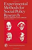 img - for Experimental methods for social policy research (Pergamon general psychology series ; 69) book / textbook / text book