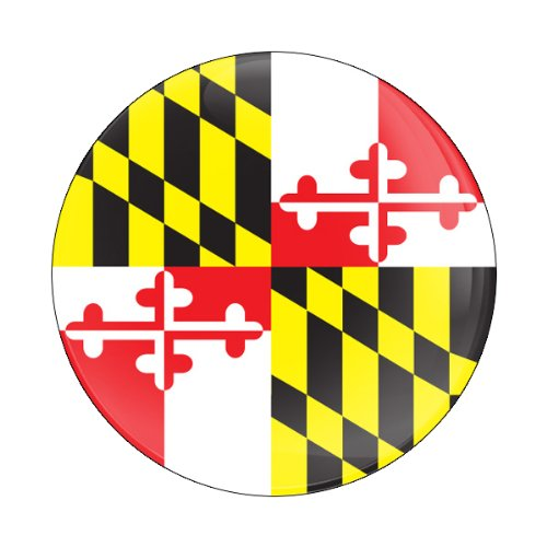 Gobadges Cd0195 Maryland Flag Magnetic Grill Badge front-53027