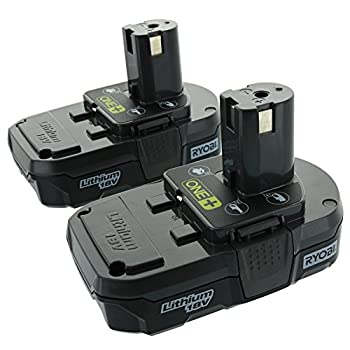 Ryobi P10218V One+ Compact Lithium Ion Battery, 2 Pack