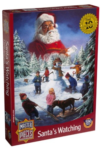 Santa's Watching 550 Piece Christmas Puzzle - 1