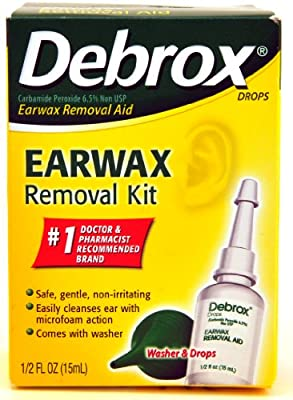 Debrox Earwax Removal Aid Kit, Washer & Drops, 0.5-Ounce Bottles (Pack of 2)