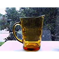 Amber Glass 60's Tea Pitcher