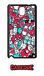 Caseque Alien Attack Back Shell Case Cover for Samsung Galaxy Note 3