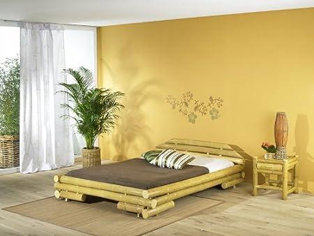 Bambusbett MALI Bett aus Bambus 180x200cm (mit Lattenrostauflage)