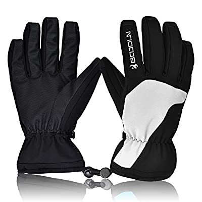 Ski Gloves, Hicool Waterproof Thermal Winter Ski Gloves Snowboard Snowmobile Motorcycle Cycling Outdoor Sports Gloves-Men's