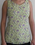 Floral Nursing Tank Top in Sage-Violet, 2X