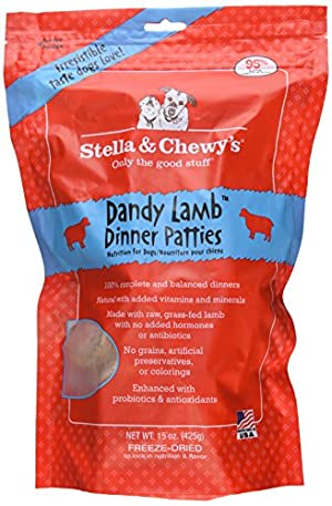 Stella & Chewy's Freeze Dried Dandy Lamb Dinner Patties for Dogs