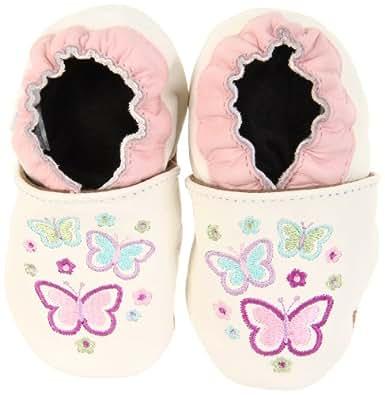 Robeez Soft Soles Butterfly Garden Pre-Walker (Infant/Toddler),White/Multi,18-24 Months (6.5-8 M US Toddler)