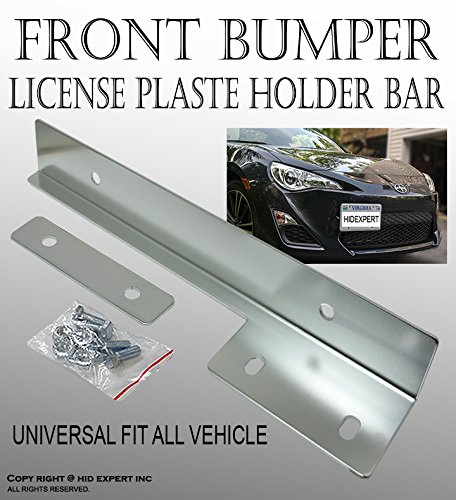 JDM Silver Aluminum Bumper Front License Plate Mount Relocate Bracket B#39 (2014 Dodge Charger Bumper compare prices)